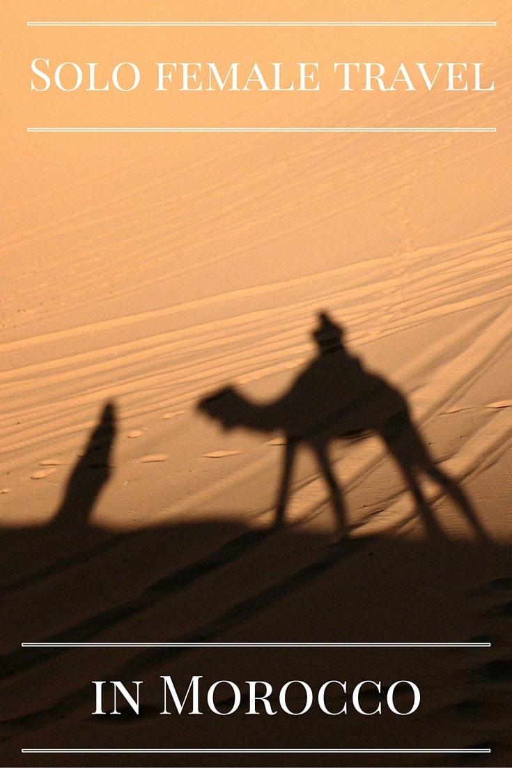 solo female travel in morocco pin