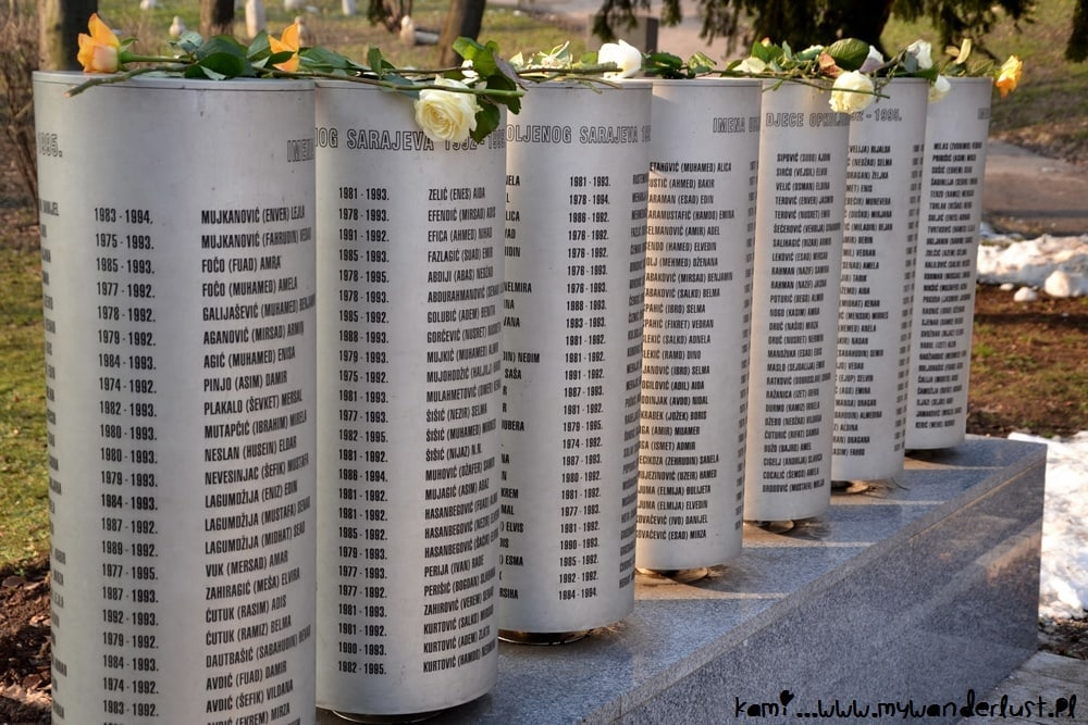 memorial of children killed in the siege