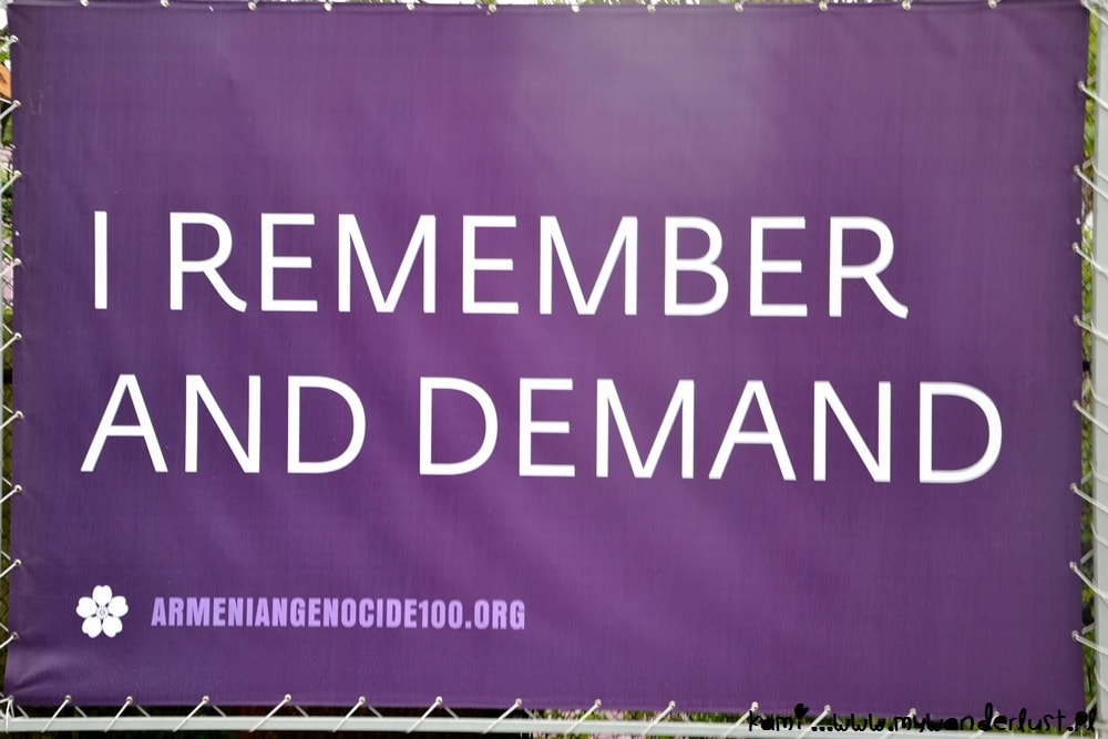 genocide posters in Yerevan