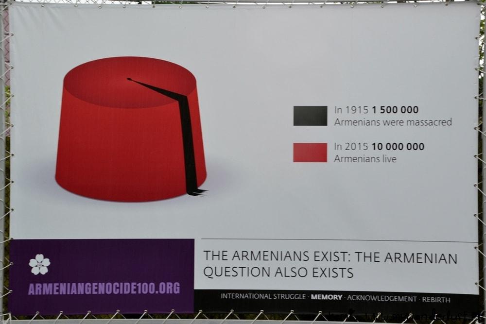 genicide posters in Yerevan