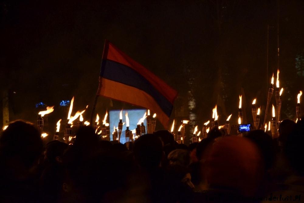 night march to Tsitsernakaberd