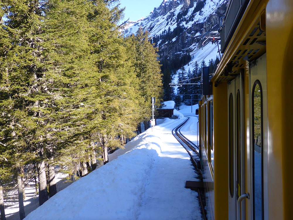 train travels in Switzerland