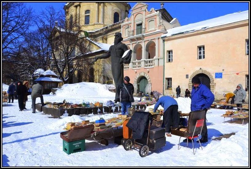 Flea market in Lviv