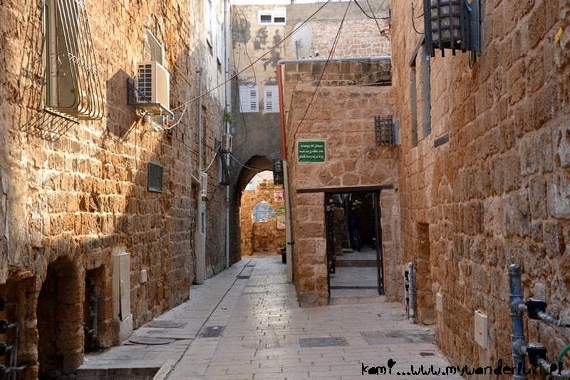 narrow streets in Old Town in Acre