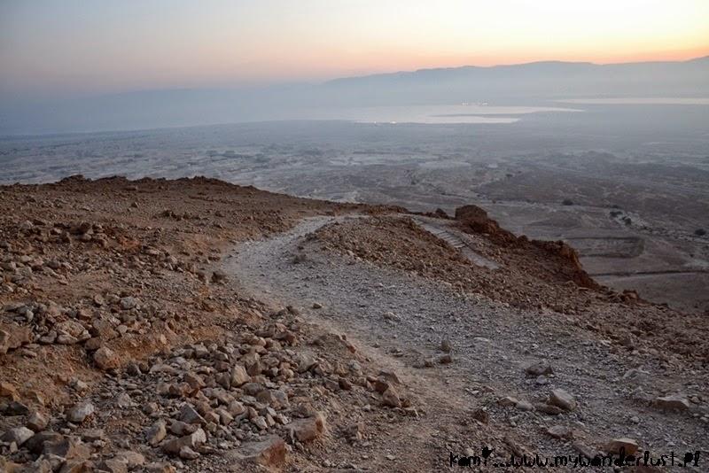 sunrise over Masada and Dead Sea