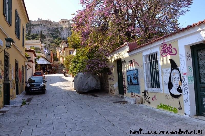 street art and Acropolis