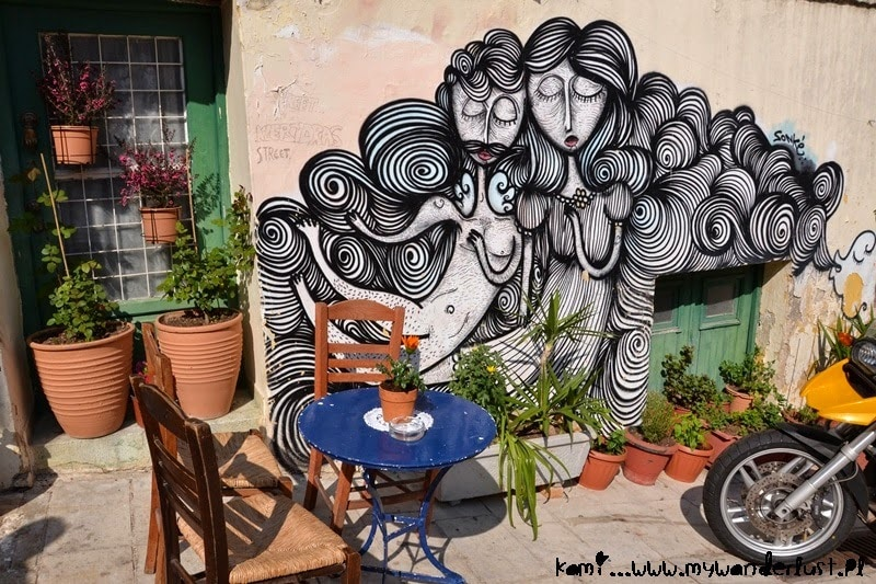 cafe and street art