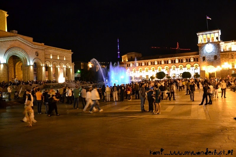 Visit Yerevan fountains in Yerevan