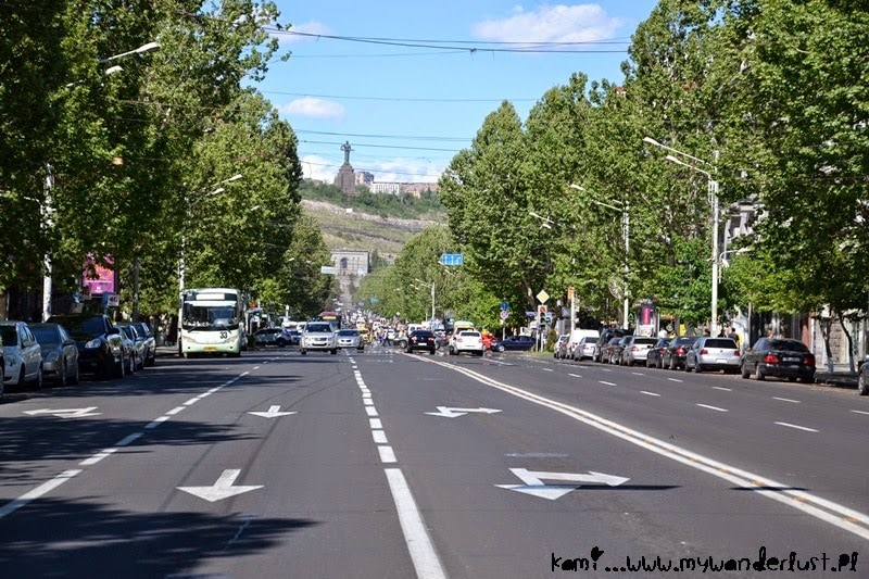 Visit Yerevan: wide avenue in Yerevan