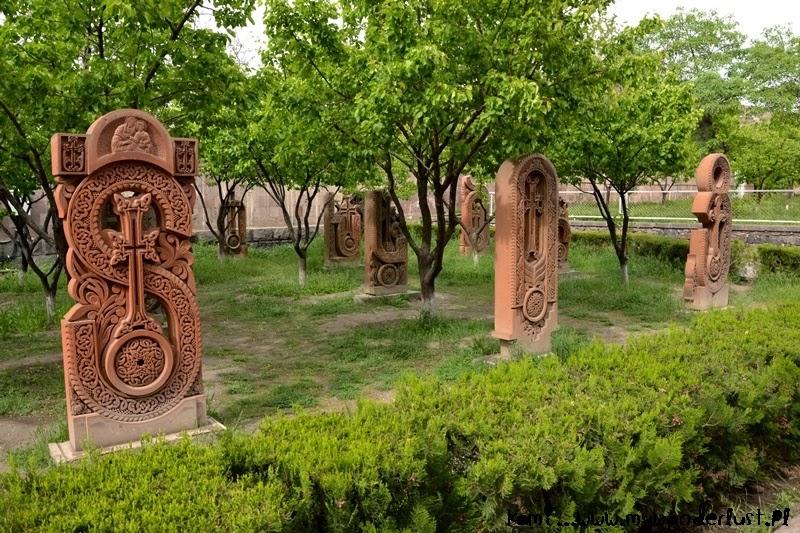 Aragatsotn, Armenia: khachkars Armenian letters