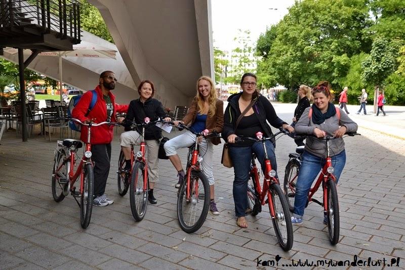 at the bike tour