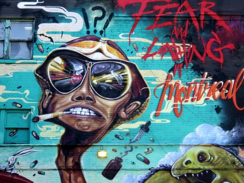 Montreal street art - Fear and Loathing in Montreal