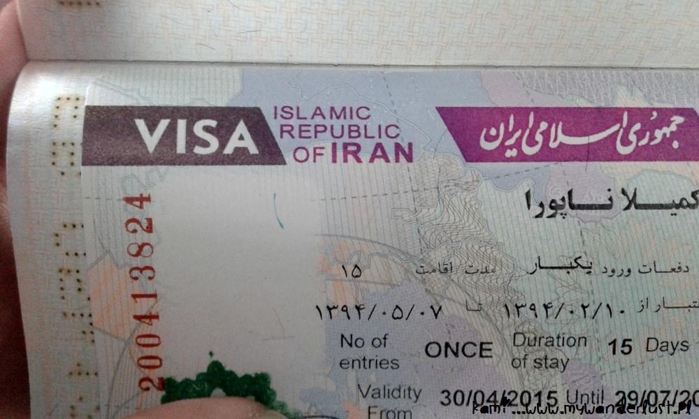 visa to Iran