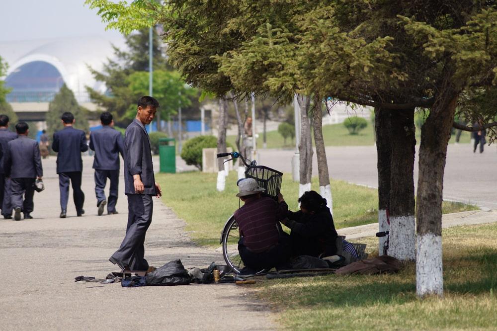 Pjongjang-naprawa roweru