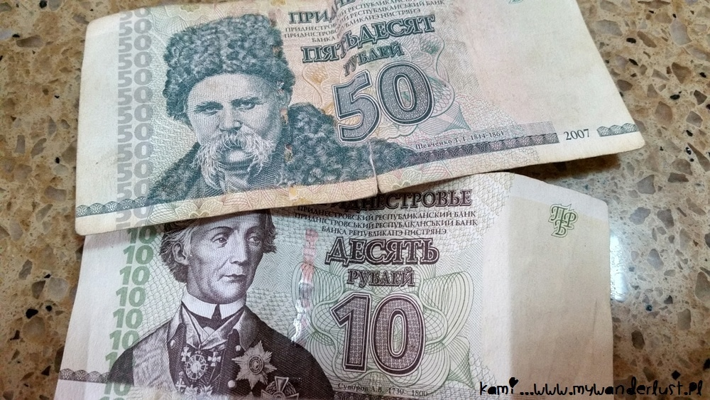 money in Transnistria