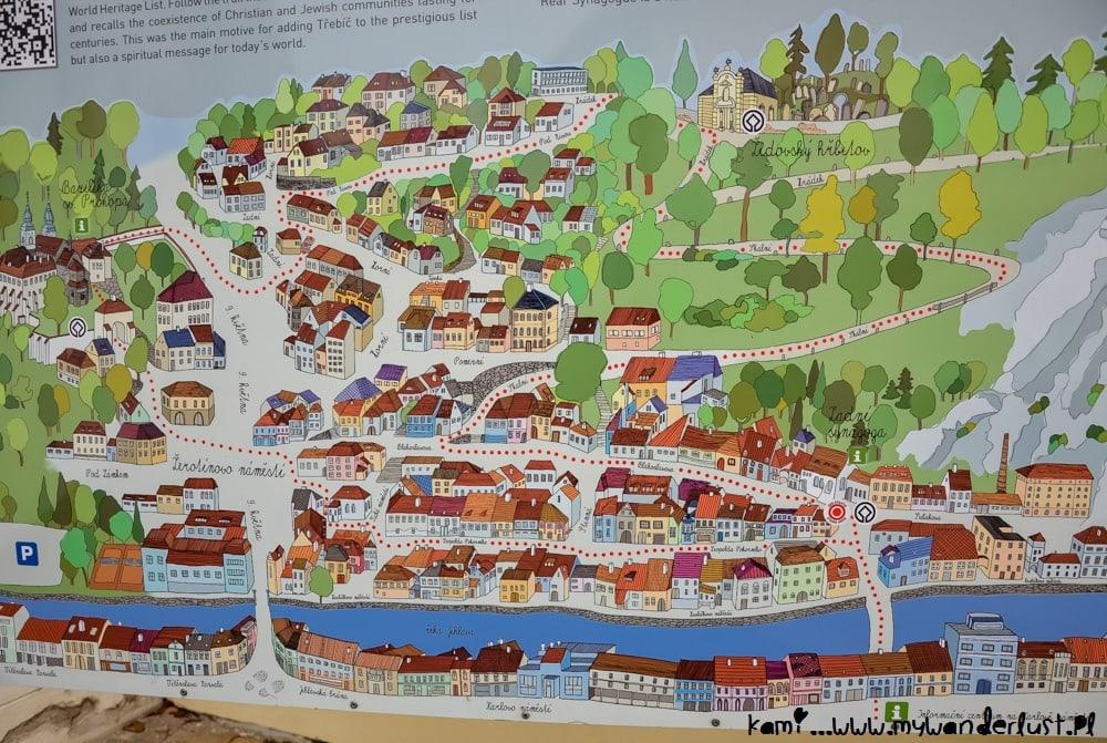Trebic Czech Republic map