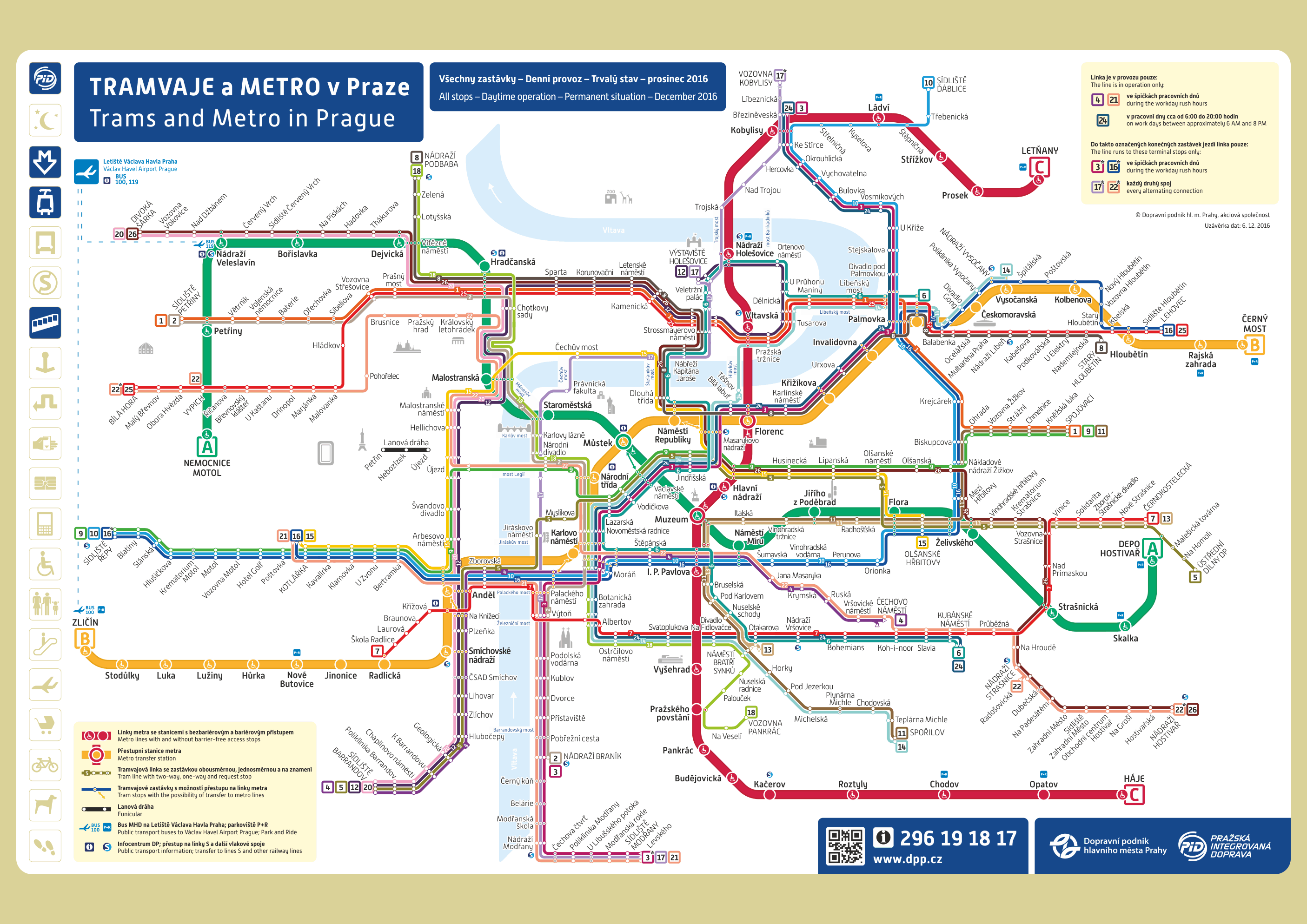Prague public transport map