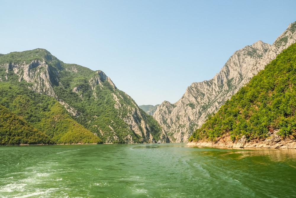 Albania tourism - what to see in Albania - Lake Koman
