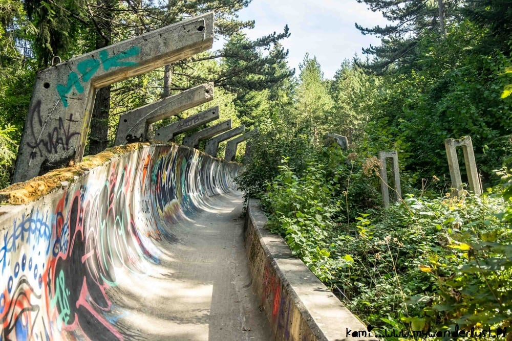 Image result for abandoned bobsled track sarajevo