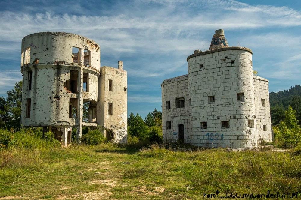 destroyed observatory in Sarajevo